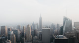 Fototapeta Nowy Jork - Aerial view of New York skyline and attractions, USA.