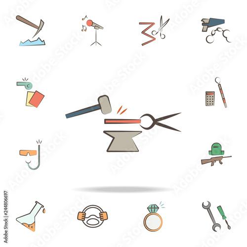 Fototapeta blacksmith tools icon