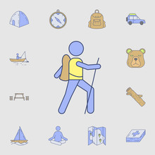 Scout Icon. Detailed Set Of Color Camping Tool Icons. Premium Graphic Design. One Of The Collection Icons For Websites, Web Design, Mobile App
