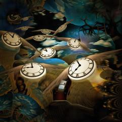 Fototapeta Abstrakcja Flow of time