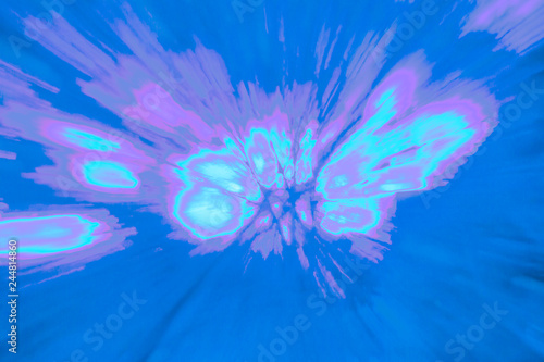 Fototapety, obrazy: Creative abstract background reminding of a burst full of dynamics in purple, blue, magenta, violet ect.