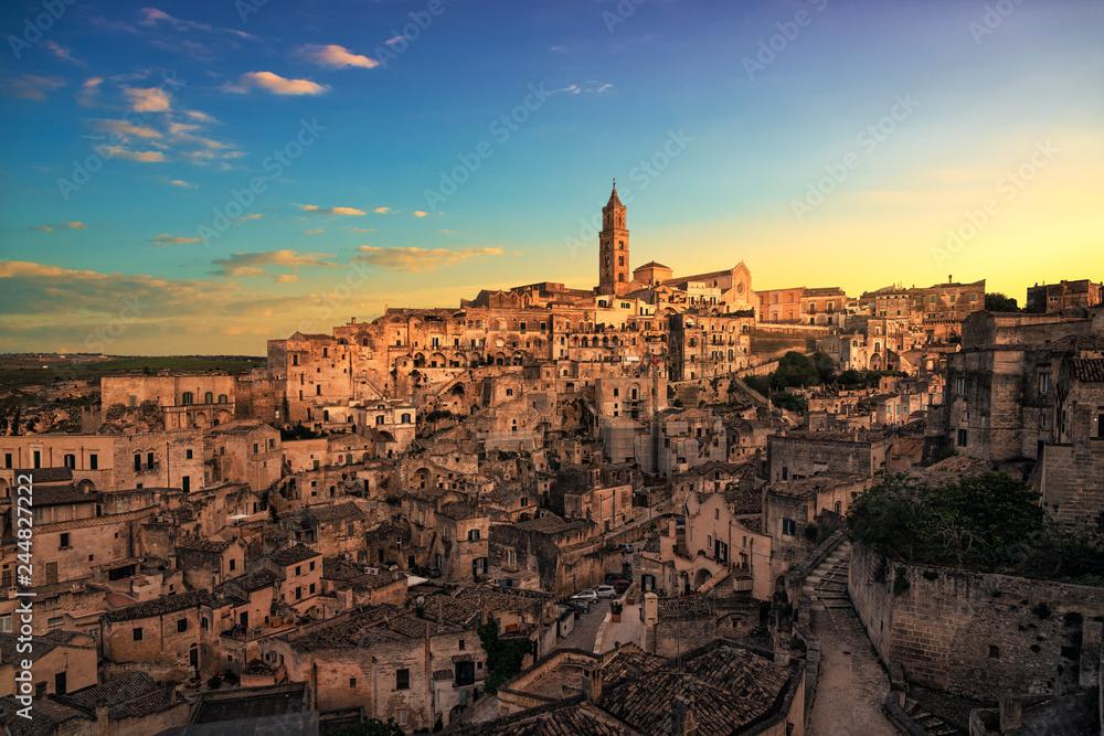 Fototapety, obrazy: Matera ancient town i Sassi, Unesco site landmark. Basilicata, Italy.