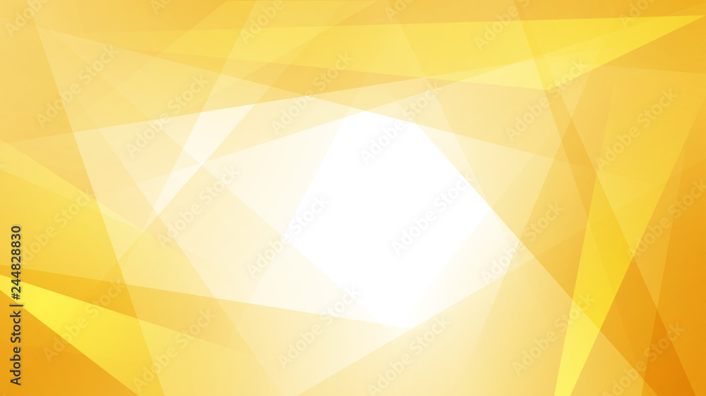 Fototapeta Abstract background of straight intersecting lines and polygons in yellow colors