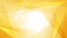 Abstract Background Of Straight Intersecting Lines And Polygons In Yellow Colors