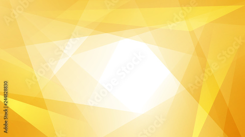 Fototapeta Abstract background of straight intersecting lines and polygons in yellow colors obraz