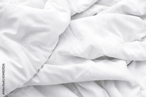 White delicate soft background of fabric or bedding sheet Canvas-taulu