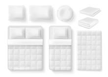 Vector White Blank Bedding Set...