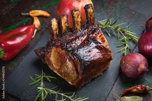 Roasted rack of pork Wallpaper Mural