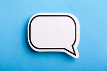 Blank Speech Bubble Isolated O...
