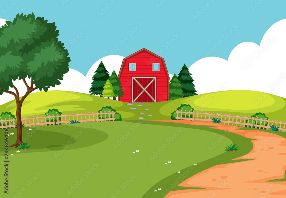 Fototapety, obrazy: An outdoor farm landscape