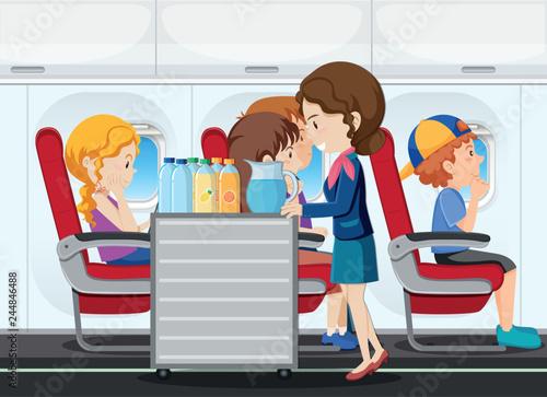 Fényképezés  A service on the airplane