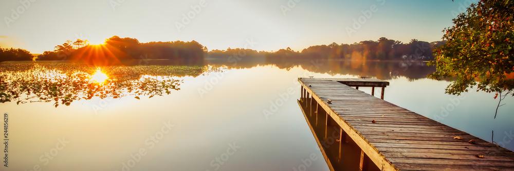 Fototapety, obrazy: Lake Bradford Pier