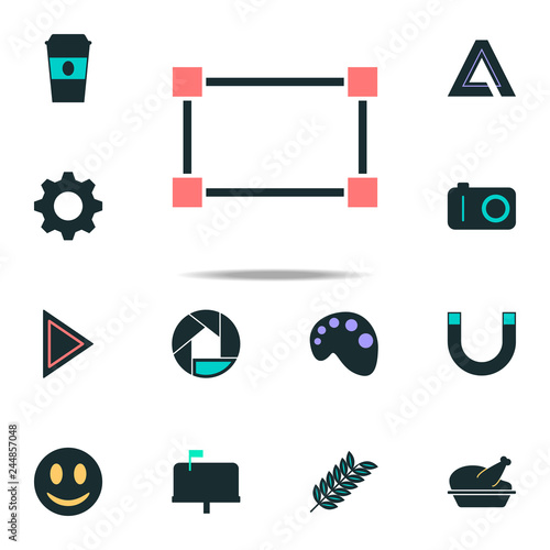 Fotografie, Obraz  dotted rectangle icon. web icons universal set for web and mobile