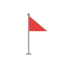 Red Flag Vector Icon