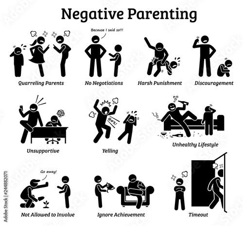 Fotografia Negative parenting child upbringing