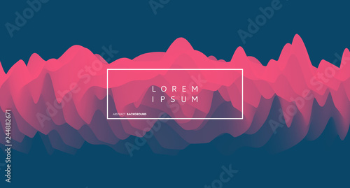 Cover design template. Abstract wavy background for banner, flyer and poster. Dynamic effect. Vector illustration. Can be used for advertising, marketing, presentation. - 244882671