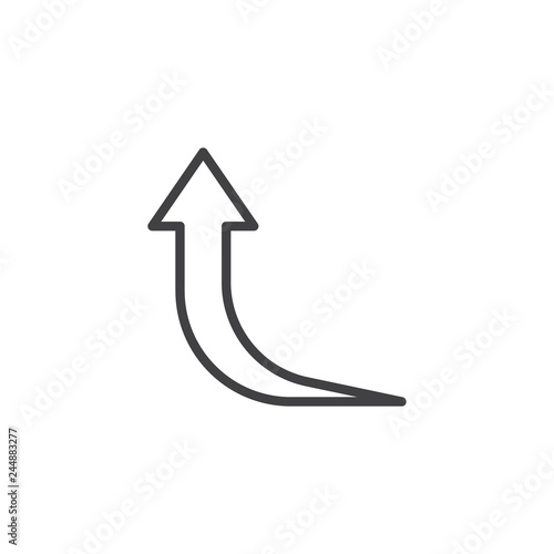 Foto  Curved arrow up line icon