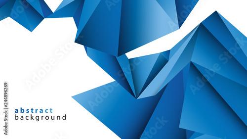 niebieskie-tlo-low-poly-wektor