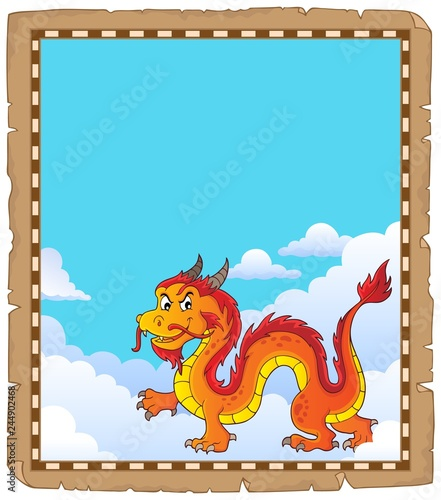 Chinese dragon theme parchment 4