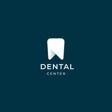 Modern Minimal Dentist Logo Design. Abstract Tooth Icon Logotype. Dental Clinic Vector Sign Mark Icon.
