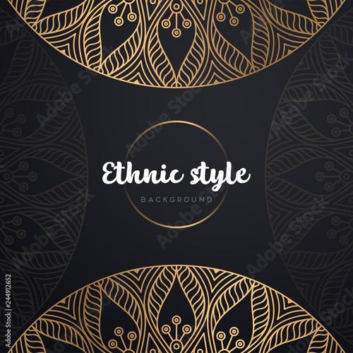 Fototapety, obrazy: Gold background with mandala