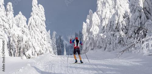 Wintersport auf dem Fichtelberg in Sachsen
