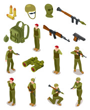Isometric Soldiers. Military S...