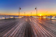 Pomost o wschodzie słońca