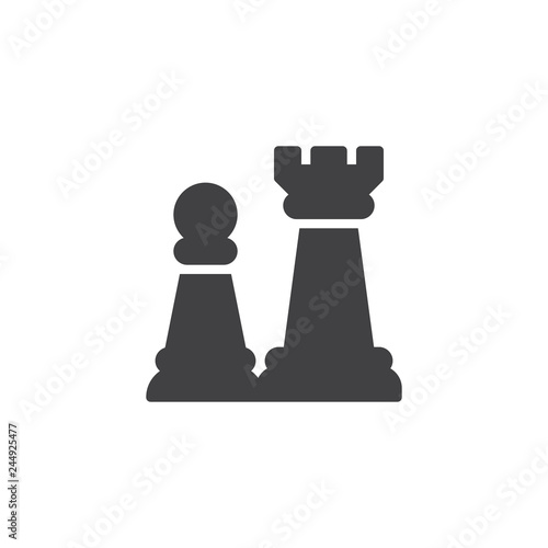 Chess Piece Vector Icon Filled Flat Sign For Mobile Concept And Web Design Chess Game Simple Solid Icon Symbol Logo Illustration Pixel Perfect Vector Graphics Compre Este Vetor E Explore Vetores