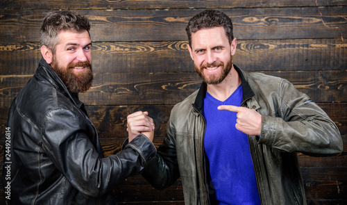 Fényképezés  Handshake symbol of successful deal