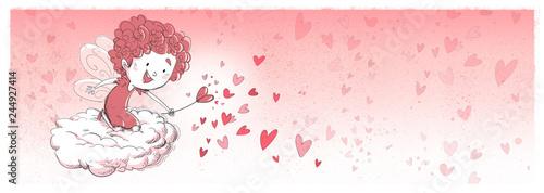 Photo hada feliz de los corazones de San Valentin