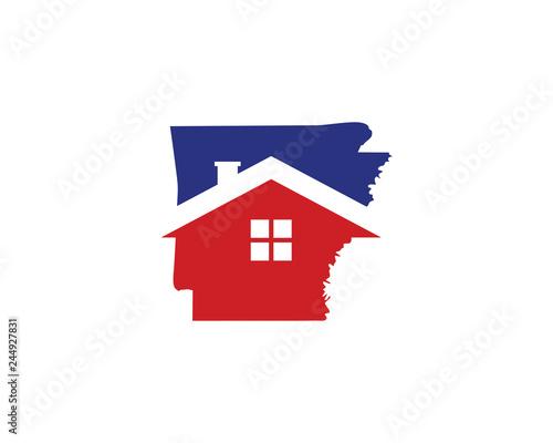 Arkansas Real Estate Logo Icon 001 Canvas Print