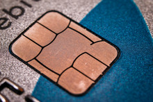 Chip On Credit Card. Macro Clo...