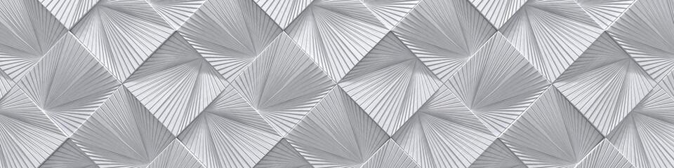 Naklejka 3D Creative Wide Silver Metal Design (Website head) (3d Illustration)