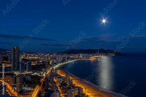 Alicante, Spain; November 21, 2018: Views of Benidorm from the Hotel Gran Bali