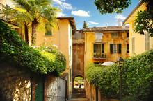 Old Street In Trastevere In Rome, Italy.