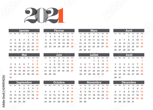 Calendrier 2021   Buy this stock vector and explore similar