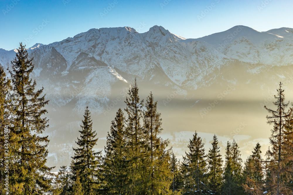 Fototapety, obrazy: Giewont zimą, Tatry, Zakopane