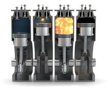3D Illustration Motor Verbrenn...