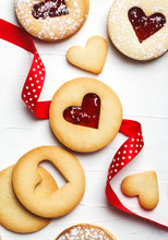 Traditional Linzer Cookie With Strawberry Jam
