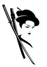 Beautiful Japanese Geisha Woma...