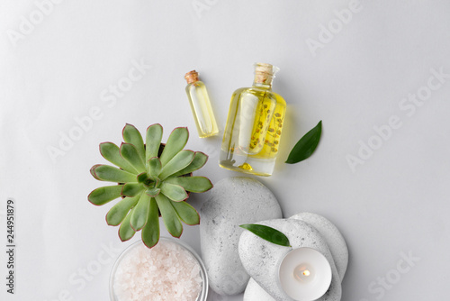 obraz PCV Beautiful spa composition on light background