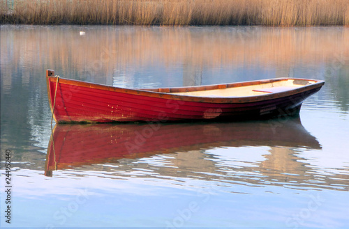 Canvas Print Red Boat 3