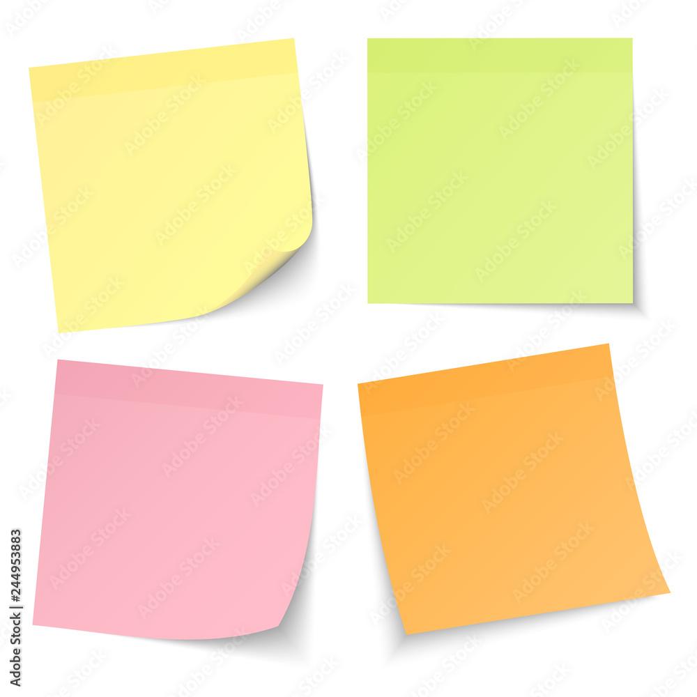 Fototapety, obrazy: 4 Stick Notes Mix Colors