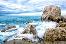 Rocks Sea Autumn