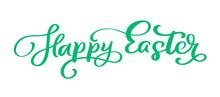 Green Happy Easter Handwritten...