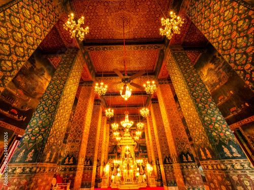 Deurstickers Asia land pathum wanaram temple