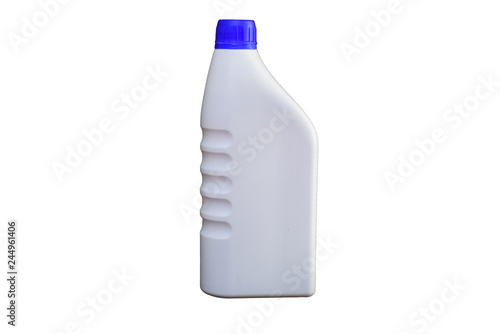 Fotografía  Engine oil Bottle on white background with clipping path