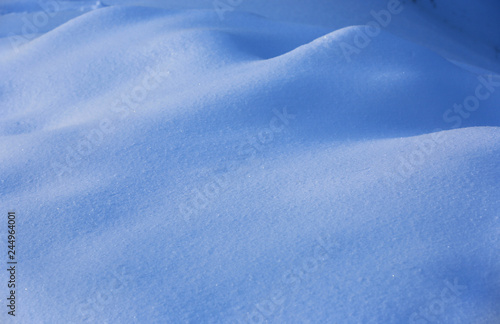 snow surface on meadow Canvas Print
