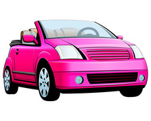 Small Female Pink Car. Convert...